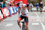 Jasper Philipsen (BEL) UAE Team Emirates wins Stage 15 of the Vuelta Espana 2020, running 230.8km from Mos to Puebla de Sanabria, Spain. 5th November 2020. <br /> Picture: Luis Angel Gomez/PhotoSportGomez | Cyclefile<br /> <br /> All photos usage must carry mandatory copyright credit (© Cyclefile | Luis Angel Gomez/PhotoSportGomez)