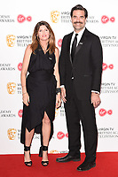 Sharon Horgan and Rob Delaney<br /> in the winners room for the BAFTA TV Awards 2018 at the Royal Festival Hall, London<br /> <br /> ©Ash Knotek  D3401  13/05/2018