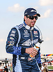 Alex Tagliani (98) driver of the Team Barracuda-BHA car, in action during the IZOD Indycar Firestone 550 race at Texas Motor Speedway in Fort Worth,Texas. Justin Wilson (18) driver of the Sonny's BBQ car wins the Firestone 550 race...