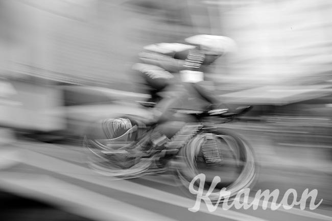 Iljo Keisse (BEL/Etixx-QuickStep) speeding off the start ramp<br /> <br /> stage 1: prologue<br /> Ster ZLM Tour 2015