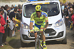 Matteo Tosatto (ITA) Tinkoff-Saxo tackles Sector 10 Mons-en-Pevele during the 113th edition of the Paris-Roubaix 2015 cycle race held over the cobbled roads of Northern France. 12th April 2015.<br /> Photo: Eoin Clarke www.newsfile.ie