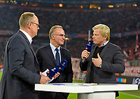 18.10.2017, Football UEFA Champions League 2017/2018,  , 3. match day, FC Bayern Muenchen - Celtic Glasgow, in Allianz-Arena Muenchen, v.li: Oliver Welke (ZDF), Vorstandsvorsitzender Karl-Heinz Rummenigge (FC Bayern Muenchen), Oliver Kahn. *** Local Caption *** © pixathlon<br /> <br /> +++ NED + SUI out !!! +++<br /> Contact: +49-40-22 63 02 60 , info@pixathlon.de