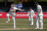 Simon Harmer in bowling action for Essex during Essex CCC vs Durham CCC, LV Insurance County Championship Group 1 Cricket at The Cloudfm County Ground on 18th April 2021