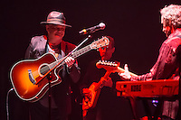 An Evening with The Monkeeys.  Micky Dolenz (left) and Peter Tork (right) from The Monkees perform at Hammersmith Eventim Apollo, 45 Queen Caroline Street, UK on 4 September 2015 - their first performance in London since the passing of Davy Jones in February 2012 . Photo by David Horn.