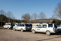 Photo: Richard Lane/Richard Lane Photography. Bath Rugby day at Land Rover Experience Centre, Eastnor. 01/02/2012.
