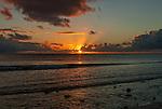 Another glorious sunset on the remote island of Kiritimati in Kiribati