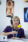 © Joel Goodman - 07973 332324 . 05/10/2016 . Birmingham , UK . JUSTINE GREENING being interviewed for BBC radio on the morning of the fourth and final day of the Conservative Party Conference at the International Convention Centre in Birmingham . Photo credit : Joel Goodman