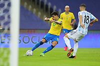 10th July 2021, Estádio do Maracanã, Rio de Janeiro, Brazil. Copa America tournament final, Argentina versus Brazil;  Lucas Paquetá of Brazil