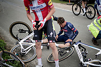Silvain Dillier (SUI/Alpecin-Fenix) being involved in a crash with about 100km to go<br /> <br /> 105th Ronde van Vlaanderen 2021 (MEN1.UWT)<br /> <br /> 1 day race from Antwerp to Oudenaarde (BEL/264km) <br /> <br /> ©kramon