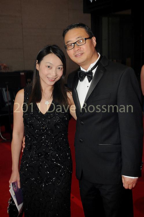"""Ping Ni and Gene Chen at the 2016 Houston Symphony Gala """"Carnaval"""" at Jones Hall Saturday May 14,2016(Dave Rossman Photo)"""
