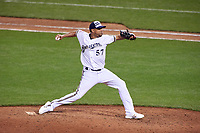 Milwaukee Brewers pitcher Francisco Rodriguez during the MLB All-Star Game on July 14, 2015 at Great American Ball Park in Cincinnati, Ohio.  (Mike Janes/Four Seam Images)