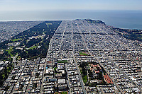aerial photograph Richmond District residential neighborhood San Francisco California