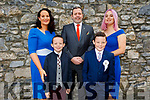 Blennerville NS student Daire Hanlon receiving his First Holy Communion in St Johns Church on Saturday. Front: Jack and Daire Hanlon. Back l to r: Tara and James Hanlon and Aoife Murphy.