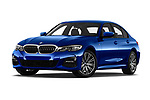 Stock pictures of low aggressive front three quarter view of 2019 BMW 3-Series M-Sport 4 Door Sedan Low Aggressive
