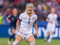 PARIS,  - JUNE 28: Julie Ertz #8 yells for the ball during a game between France and USWNT at Parc des Princes on June 28, 2019 in Paris, France.