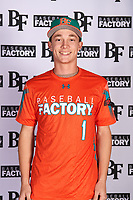 Billy Biers (1) of Chatsworth High School in Palmdale, California during the Baseball Factory All-America Pre-Season Tournament, powered by Under Armour, on January 12, 2018 at Sloan Park Complex in Mesa, Arizona.  (Mike Janes/Four Seam Images)