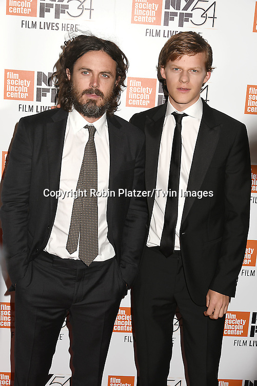 """Casey Affleck and Lucas Hedges attend the """"Manchester by the Sea"""" Screening at the New York Film Festival on October 1, 2016 at Alice Tylly Hall in Lincoln Center in New York, New York, USA.<br /> <br /> photo by Robin Platzer/Twin Images<br />  <br /> phone number 212-935-0770"""
