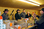 Dunsfold Landrovers Series 1 Parts Weekend 22-24/10/2004, Dunsfold, UK. Customers browsing for original new old stock spare parts for historic Land Rovers that are on sale at the Dunsfold Landrovers Parts Weekend. --- No releases available. --- The garage Dunsfold Landrovers (DLR) was established in 1968 in Dunsfold, Surrey, UK. Due to the ever growing number of Land Rover vehicles the Dunsfold Collection of Land Rovers was launched in 1993. Supported by the company Land Rover and the Gaydon Heritage Centre today Dunsfold is maintaining the biggest and most varied collection of Land Rovers in the world. Because of the enormous quantity of original spare parts for older Land Rovers that are now stored in Dunsfold, every now and then a theme-event is held.