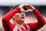 Kevin Gameiro of Atletico de Madrid celebrates after scoring his goal during the La Liga 2017-18 match between Atletico de Madrid and Athletic de Bilbao at Wanda Metropolitano  on February 18 2018 in Madrid, Spain. Photo by Diego Souto / Power Sport Images