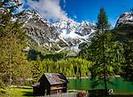 Italien, Suedtirol, Antholzer Tal, Seitental des Pustertals, der Antholzer See im Naturpark Rieserferner-Ahrn | Italy, South Tyrol, Valle di Anterselva, Lago di Anterselva at Rieserferner-Ahrn Nature Park