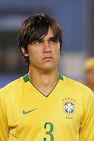 Brazil's Dalton (3) stands on the pitch before the game against Costa Rica during the FIFA Under 20 World Cup Semi-final match at the Cairo International Stadium in Cairo, Egypt, on October 13, 2009. Brazil won the match  1-0.