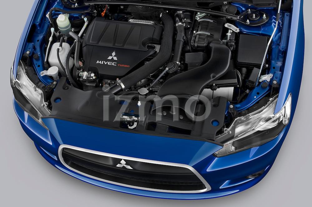 Engine of a 2010 Mitsubishi Lancer Sportback GTS