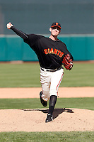 Tim Alderson / San Francisco Giants 2009 spring training.Photo by:  Bill Mitchell/Four Seam Images