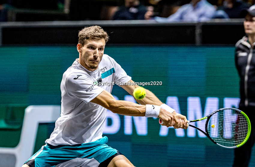 Rotterdam, The Netherlands, 14 Februari 2020, ABNAMRO World Tennis Tournament, Ahoy,   Aljaz Bedene (SLO).<br /> Photo: www.tennisimages.com