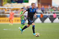 SAN JOSE, CA - SEPTEMBER 30: Jackson Yueill #14 of the San Jose Earthquakes during a Major League Soccer (MLS) match between the San Jose Earthquakes and the Seattle Sounders on September 30, 2019 at Avaya Stadium in San Jose, California.