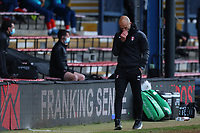 4th May 2021; Kenilworth Road, Luton, Bedfordshire, England; English Football League Championship Football, Luton Town versus Rotherham United; A frustrated looking Rotherham United Manager Paul Warne