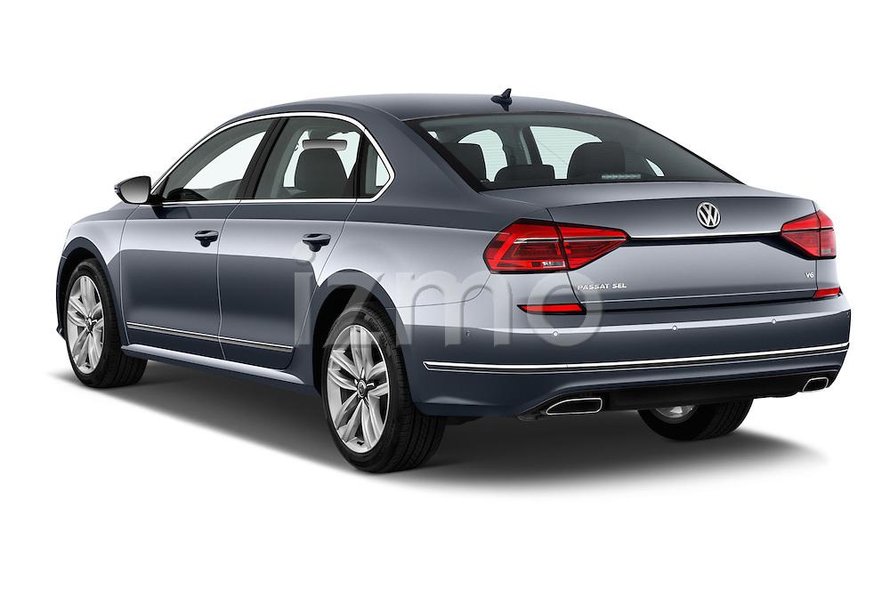 Car pictures of rear three quarter view of 2016 Volkswagen Passat 3.6L-SEL-Premium-Auto 4 Door Sedan Angular Rear