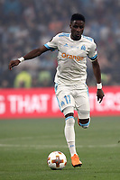 Olympique de Marseille's Bouna Sarr in action during the UEFA Europa League final football match between Olympique de Marseille and Club Atletico de Madrid at the Groupama Stadium in Decines-Charpieu, near Lyon, France, May 16, 2018.<br /> UPDATE IMAGES PRESS/Isabella Bonotto