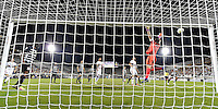 Orlando, FL - Saturday Jan. 21, 2017: Corinthians goalkeeper Cassio Ramos (12) watches the cross go high and wide of the goal during the second half of the Florida Cup Championship match between São Paulo and Corinthians at Bright House Networks Stadium. The game ended 0-0 in regulation with São Paulo defeating Corinthians 4-3 on penalty kicks