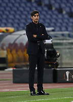 Football Soccer: UEFA Europa League UEFA Europa League Group A  AS Roma vs FCR Cluj, Olympic stadium, Rome, 5 November, 2020.<br /> Roma's coach Paulo Fonseca looks on during the Europa League football match between Roma and Cluj at the Olympic stadium in Rome on  5 November, 2020.<br /> UPDATE IMAGES PRESS/Isabella Bonotto
