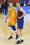 League ACB-ENDESA 2020/2021 - Game: 13.<br /> FC Barcelona Lassa vs Herbalife Gran Canaria: 91-63.<br /> Beqa Burjanadze & Rolans Smits.