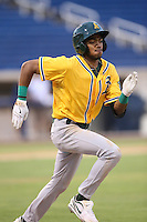 James Terrell (10) of the AZL Athletics runs the bases during a game against the AZL Brewers at Maryvale Baseball Park on June 30, 2015 in Phoenix, Arizona. Brewers defeated Athletics, 4-2. (Larry Goren/Four Seam Images)