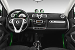 Stock photo of straight dashboard view of 2016 Smart fortwo electric 2 Door Convertible Dashboard