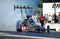 Aug. 21, 2011; Brainerd, MN, USA: NHRA top fuel dragster driver Larry Dixon during the Lucas Oil Nationals at Brainerd International Raceway. Mandatory Credit: Mark J. Rebilas-