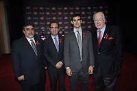 Montreal  (Quebec) CANADA - Nov 2011 File Photo - Hockey Player Max Pacioretty annonce he <br />  return to Hockey<br />  after a major injury.<br />  (Left to right) : <br /> <br /> Dr Vassili Papadopoulos,  Geoff Molson ,Max Pacioretty, Dr David Mulder after the press conference where