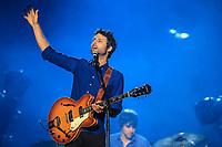 Louis-Jean Cormier performs during a concert at the Festival d'ete de Quebec in Quebec City Monday July 7, 2014.