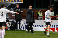 16th March 2021; Dens Park, Dundee, Scotland; Scottish Championship Football, Dundee FC versus Ayr United; Ayr United manager David Hopkin points the way