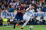Jose Angel Valdes Diaz (l) of SD Eibar is tackled by Nacho Fernandez of Real Madrid during the La Liga 2017-18 match between Real Madrid and SD Eibar at Estadio Santiago Bernabeu on 22 October 2017 in Madrid, Spain. Photo by Diego Gonzalez / Power Sport Images