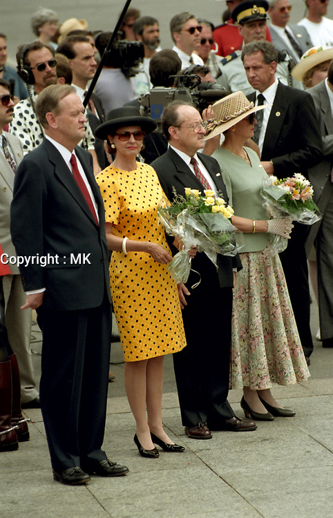 FILE PHOTO -  Jean Chretien<br />  and wife on Canada Day, July 1st (year unknown)<br /> <br /> Chretien was Prime Minister of Canada from 1993 to 2003<br /> <br /> PHOTO : Agence quebec Presse