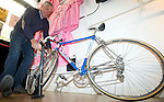 In a ceremony at Milan's Upcycle Bike Café this afternoon, Francesco Moser was inducted into the Giro d'Italia Hall of Fame, Milan, Italy. 20th March 2015. <br /> Photo: ANSA/Claudio Peri/www.newsfile.ie