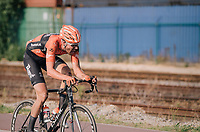 """Jan-Willem Van Schip (NED/Roompot-Nederlandse Loterij) chasing race leader Van Keirsbulck after having crashed out of the lead just earlier<br /> <br /> Antwerp Port Epic 2018 (formerly """"Schaal Sels"""")<br /> One Day Race:  Antwerp > Antwerp (207 km; of which 32km are cobbles & 30km is gravel/off-road!)"""