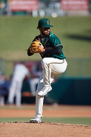 Greensboro Grasshoppers starting pitcher Domingo Gonzalez (26) in action against the Hudson Valley Renegades at First National Bank Field on September 2, 2021 in Greensboro, North Carolina. (Brian Westerholt/Four Seam Images)