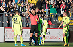 FK Trakai v St Johnstone…06.07.17… Europa League 1st Qualifying Round 2nd Leg, Vilnius, Lithuania.<br />Arunas Klimavicius is sent off after getting a second yellow card from referee Stanislav Todorov<br />Picture by Graeme Hart.<br />Copyright Perthshire Picture Agency<br />Tel: 01738 623350  Mobile: 07990 594431