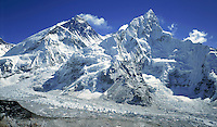 © David Paterson.Everest (left) and Nuptse from the south ridge of Pumo Ri, Nepal Himalaya. The South Col of Everest is visible in the centre of shot...