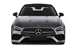 Car photography straight front view of a 2020 Mercedes Benz CLA AMG-Line 4 Door Sedan