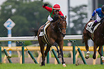 FUCHU,JAPAN-JUNE 25: Un Autre #6,by I'll Have Another,ridden by Masami Matsuoka,wins the maiden race for 2yo at Tokyo Racecourse on June 25,2016 in Fuchu,Tokyo,Japan (Photo by Kaz Ishida/Eclipse Sportswire/Getty Images)